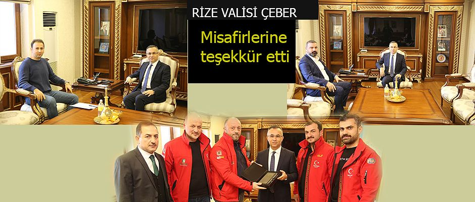 ARDOFF ÜYELERİNDEN VALİ ÇEBER'E ZİYARET