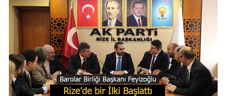 Barolar Birliği Başkanı Feyizoğlu'ndan AK Parti'ye Ziyaret