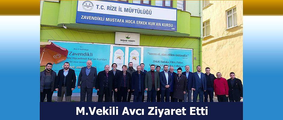 MİLLETVEKİLİ AVCI'DAN İRŞAD VAKFINA ZİYARET