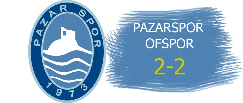 Pazarspor kendi evinde 2 puan kaybetti