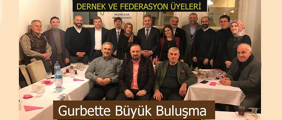 RİDEF Pazarlılar Birliği Derneği'ni İstanbul'da ki evinde ziyaret etti…