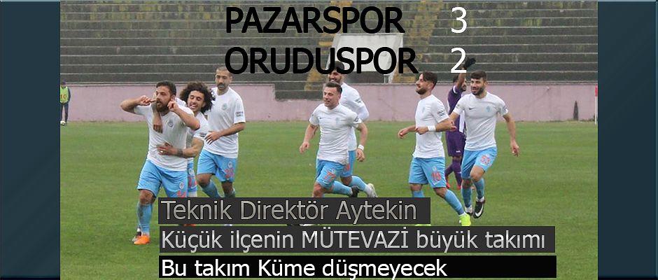 Karadeniz Derbisini Pazarspor kazandı 2-3