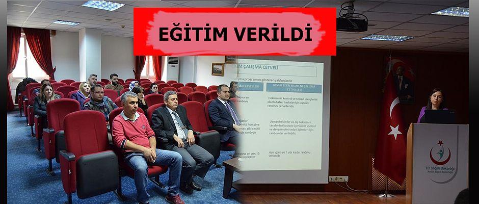 MHRS' DEN SORUMLU PERSONELE EĞİTİM TOPLANTISI