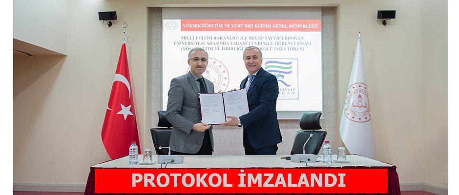Milli Eğitim Bakanlığı ile RTEÜ Arasında Protokol İmzalandı