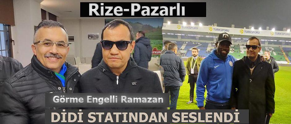 Pazarlı Ramazan'ın Rizespor ve Pazarspor tutkusu