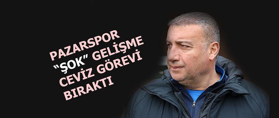 "Pazarspor 'da ""ŞOK"" istifa kabul edildi."