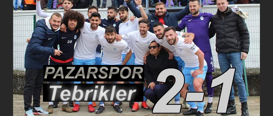 Pazarspor yeni hocasıyla şaha kalktı 2 de 2 yaptı 2-1