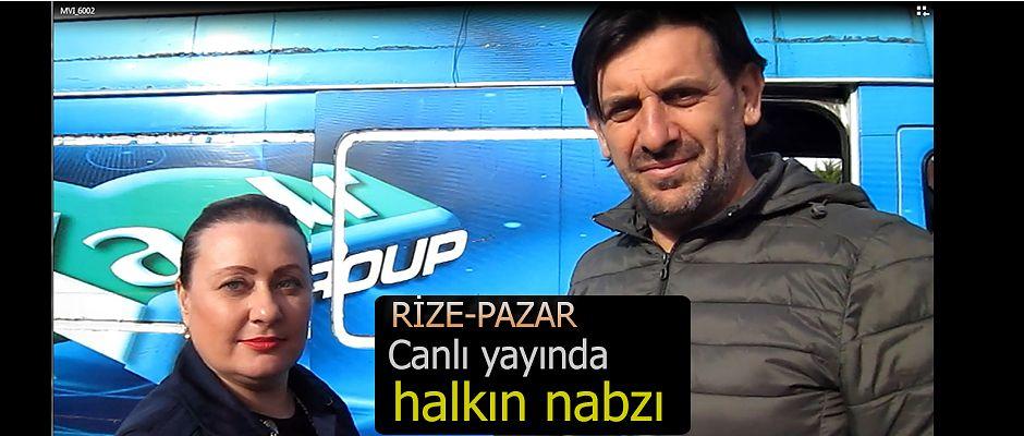 Rize Pazar'da Kaçkar Tv halkın nabzını tuttu
