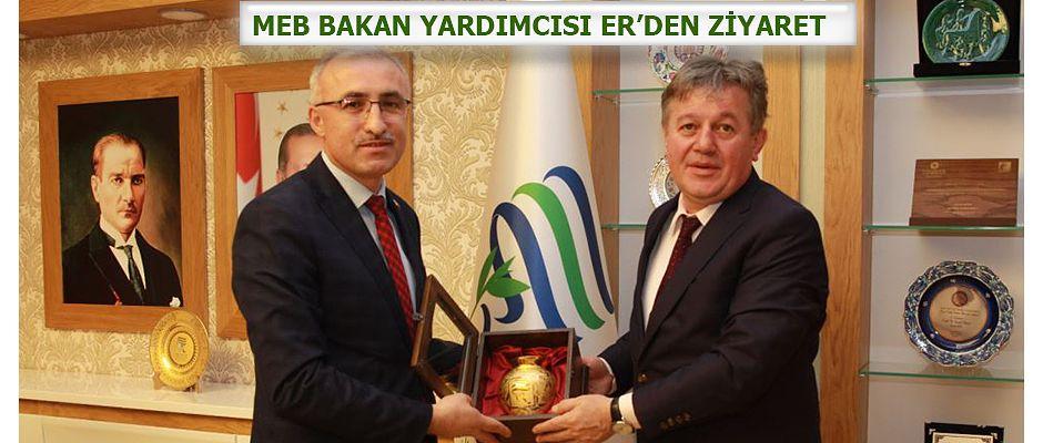 MEB Bakan Yardımcısı Er'den Rektör Karaman'a  Ziyaret