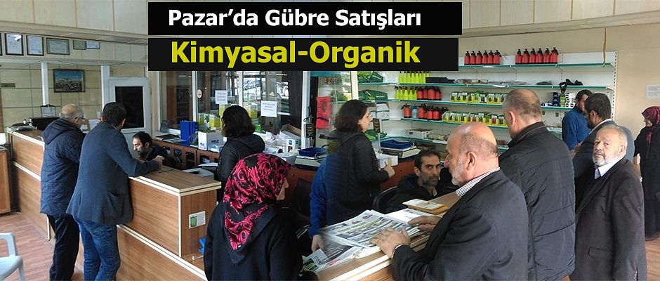 Pazar Ziraat Odasından Kimyasal ve Organik Gübre Satışı