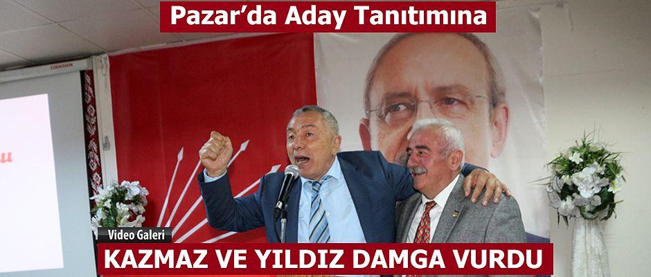 Pazar'da CHP Aday tanıtımına bu ikili Damga vurdu