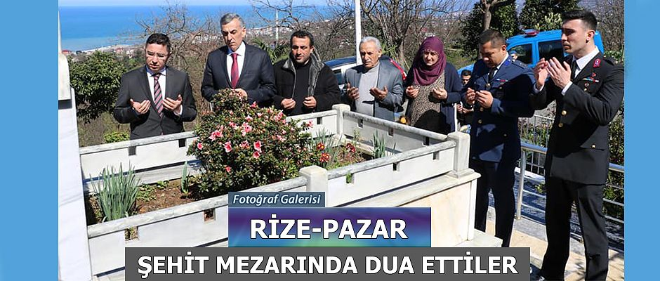 Pazarlı Şehit Turgay Bal'ın ailesini ziyaret ettiler.