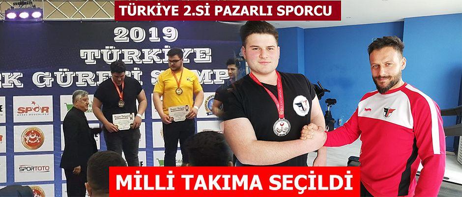 Pazarlı Sporcu Milli Takıma seçildi