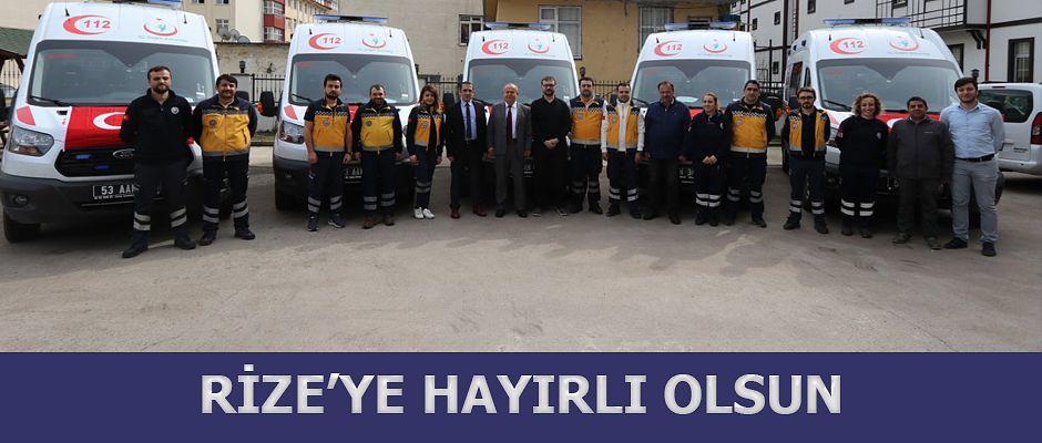 Rize'ye 5 yeni 4x4 ambulans