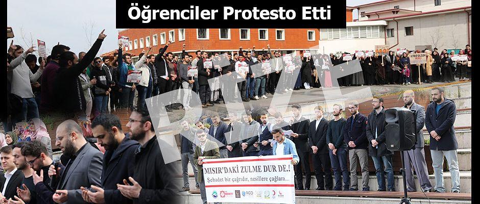 RTEÜ Öğrencileri Mısır'da Yaşanan Zulmü Protesto Etti