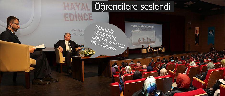 THY Genel Müdürü Bilal Ekşi RTEÜ'de Söyleşi Gerçekleştirdi