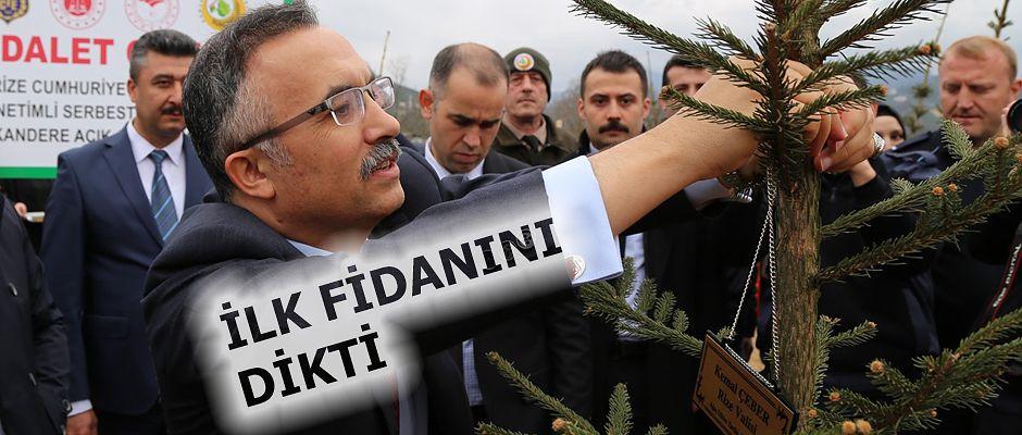 Vali Kemal Çeber, Adalet Ormanının İlk Fidanını Dikti