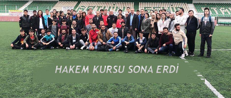 ARTVİN'DE ADAY HAKEM KURSU SONA ERDİ.