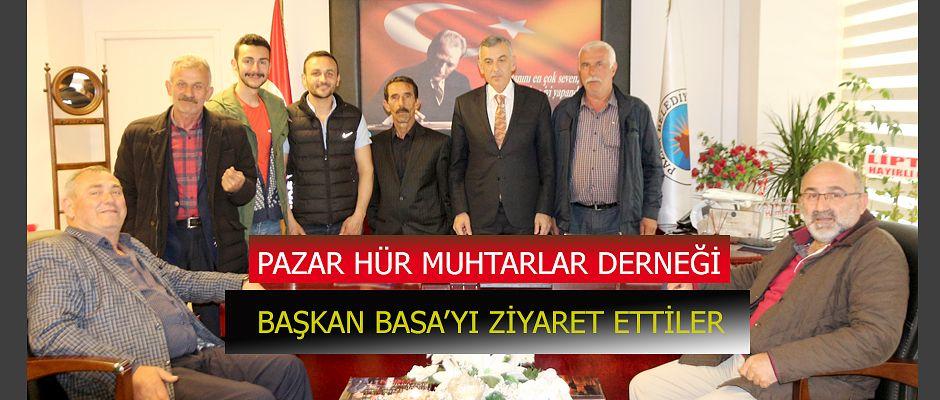 Başkan Basa' ya Pazar HÜR Muhtarlardan ziyaret