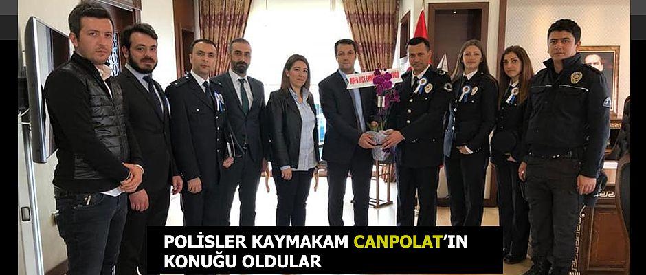 HOPA KAYMAKAMININ KONUKLARI BU DEFA POLİSLER OLDU