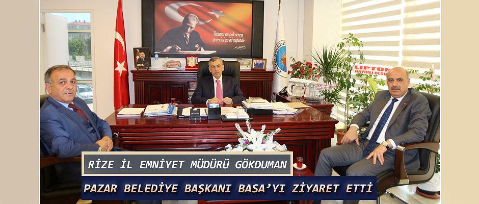 İl Emniyet Müdürü Nurettin Gökduman'dan Başkan Basa 'ya ziyaret