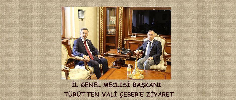 İl Genel Meclisi Başkanı İsmail Türüt'ten Vali Kemal Çeber'e Ziyaret