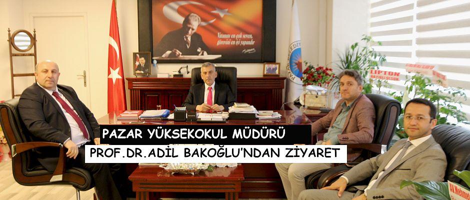 Pazar Belediye Başkanı Dr. Ahmet Basa'yı ziyaret ettiler.