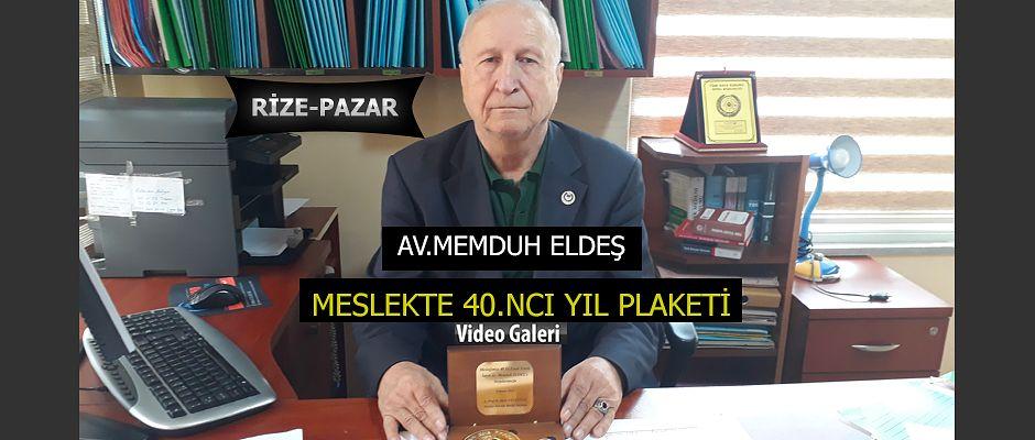 Pazar'da Avukatlık Mesleğinde 40 yılını dolduran Eldeş'e Plaket verildi