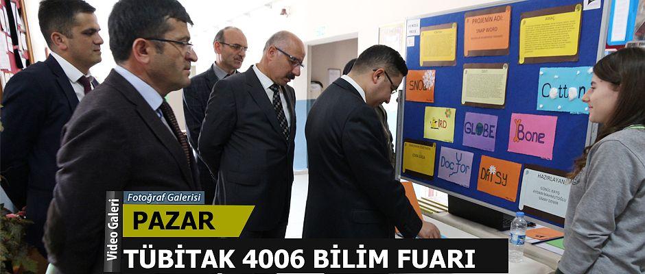 Pazar'da 4006 Tübitak Projesi sergisi yapıldı
