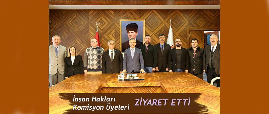 Rize İl İnsan Hakları Komisyon Üyeleri'nden Vali Kemal Çeber'e Ziyaret
