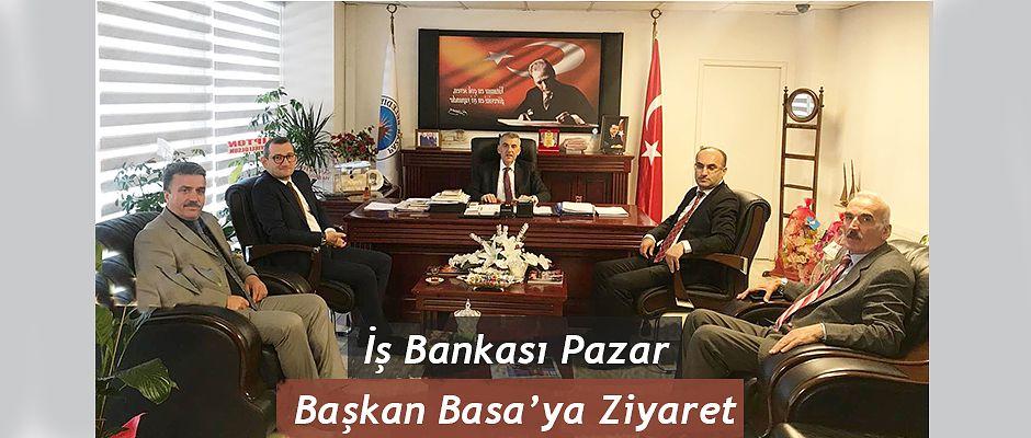 Rize-Pazar İş Bankası Müdüründen Başkan Basa'ya ziyaret
