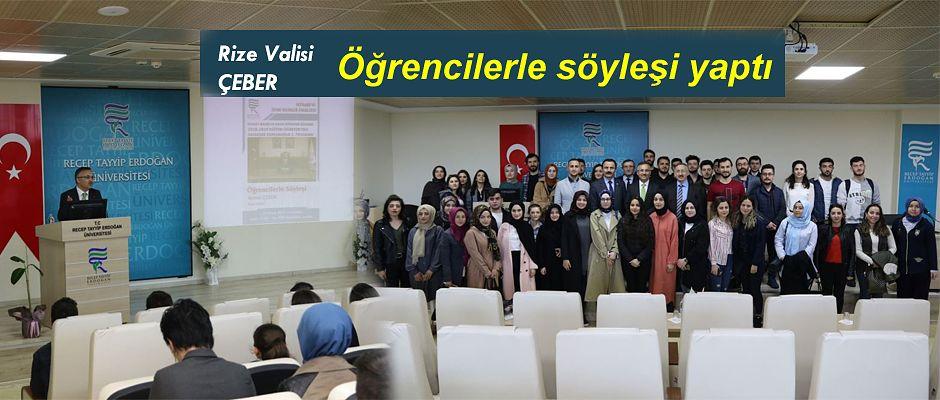 Rize Valisi RTEÜ Üniversitesinde Söyleşi Gerçekleştirdi