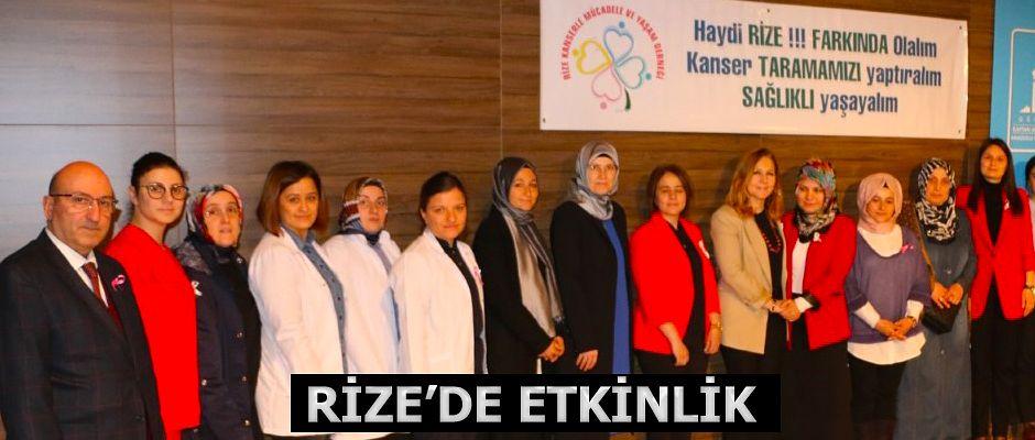 """Rize'de """"1-7 Nisan Kanser Haftası"""" etkinlikleri"""