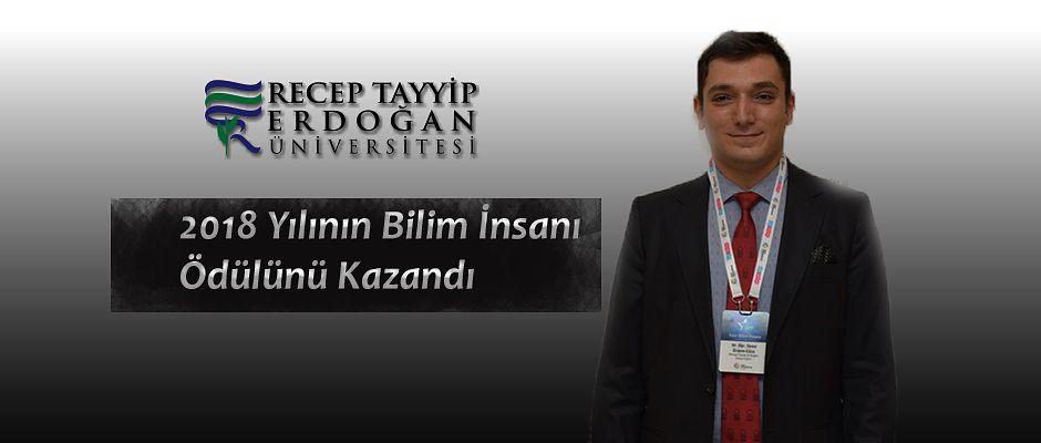 RTEÜ Öğretim Üyesi 2018 Yılının Bilim İnsanı Ödülünü Kazandı