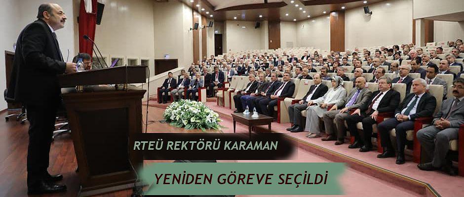 RTEÜ Rektörü Yeniden Üniversitelerarası Kurul Yönetim Kurulu Üyeliğine Seçildi