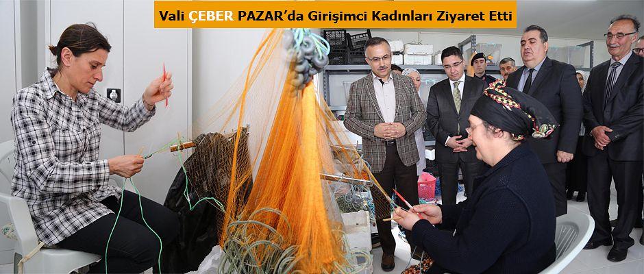 Vali Çeber Pazar'da Balıkçı barınaklarını gezdi