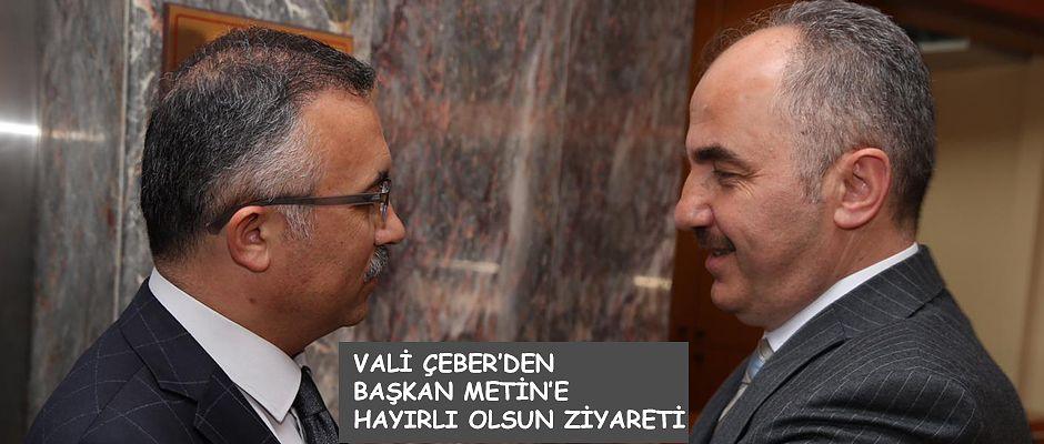 Vali Kemal Çeber'den Rize Belediye Başkanı Rahmi Metin'e Ziyaret