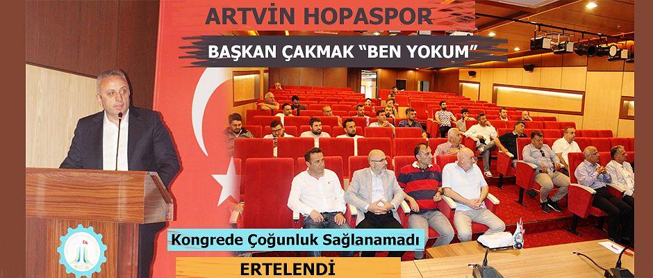 ARTVİN HOPASPOR KONGRESİ YAPILAMADI.