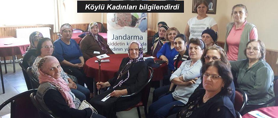 ARTVİN'DE JANDARMA EKİPLERİ KÖYLÜ KADINLARI BİLGİLENDİRDİ
