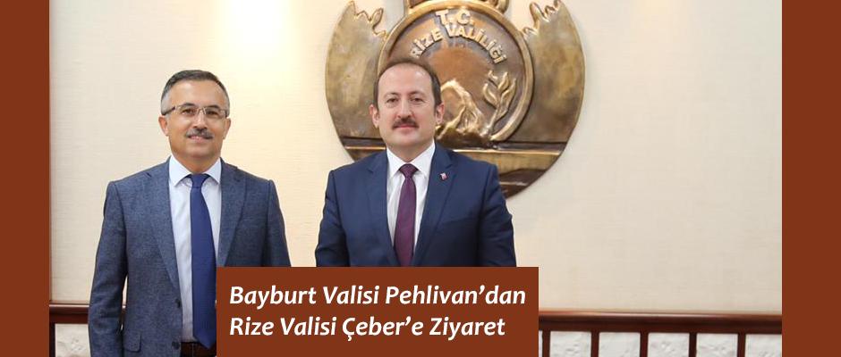 Bayburt Valisi Ali Hamza Pehlivan'dan Vali Kemal Çeber'e Ziyaret