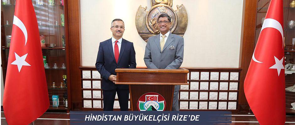 Hindistan Büyükelçisinden Vali Kemal Çeber'e Ziyaret