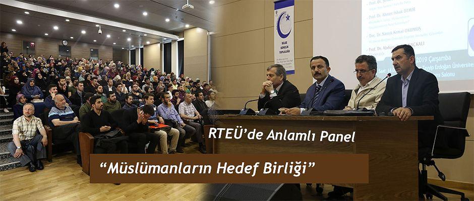 'Müslümanların Hedef Birliği' Paneli Düzenlendi