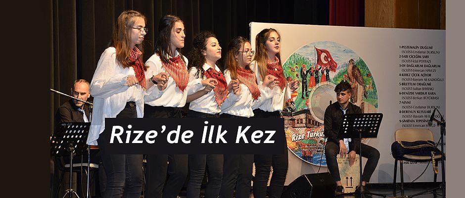 """Rize'de Bir İlk ;"""" Rize Türküleri Albümü"""""""