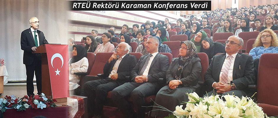 Trabzon'da Konferans Verdi