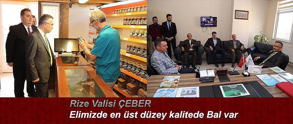 Vali Çeber'den Rize Arıcılar Birliği'ne Ziyaret