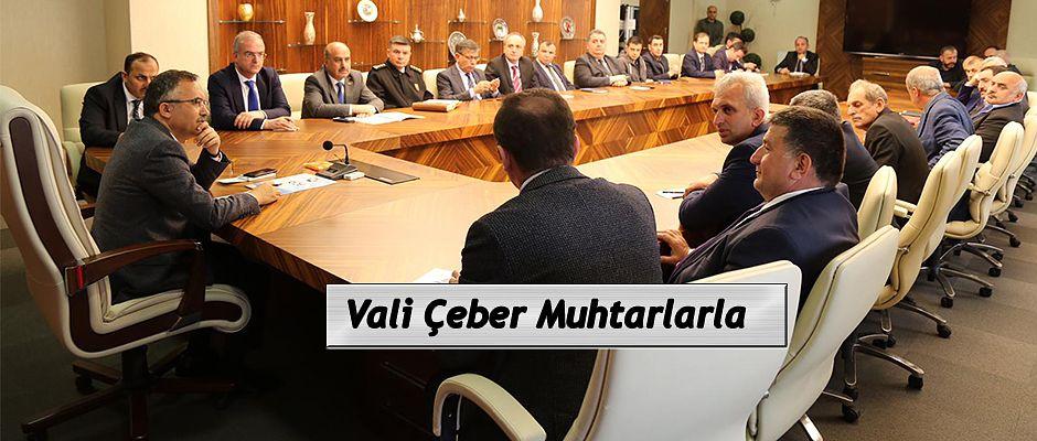 Vali Kemal Çeber, Muhtarlarla Bir Araya Geldi