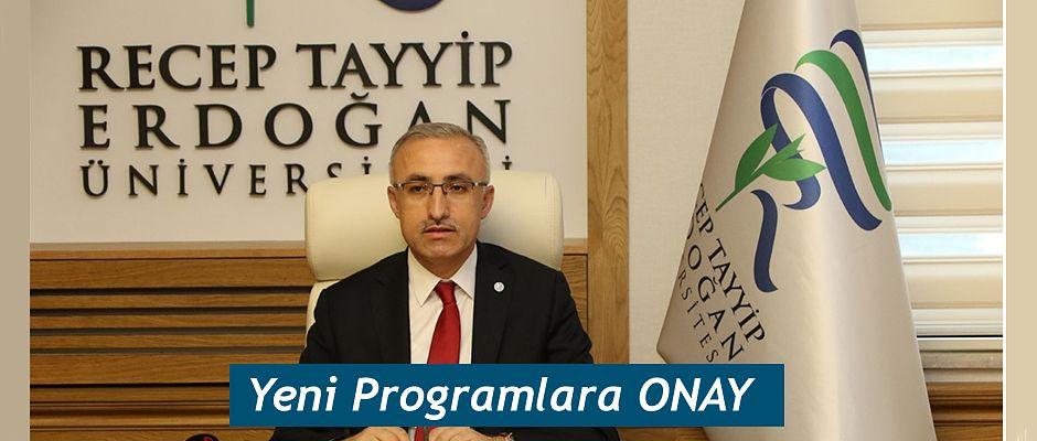 YÖK'ten RTEÜ'nün Programlarına Onay