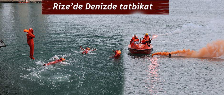 Denizde Güvenlik Eğitimi Tatbikatı Yapıldı