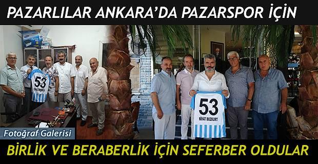 ANKARA PAZARLILAR DERNEĞİ PAZARSPOR İÇİN SEFERBERLİK BAŞLATTI !