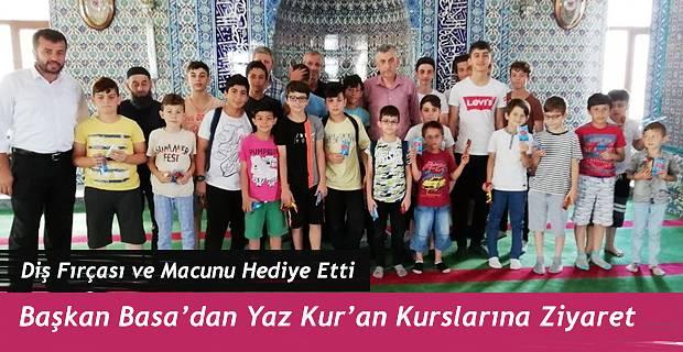 Belediye Başkanı Basa'dan yaz kursu öğrencilerine ziyaret